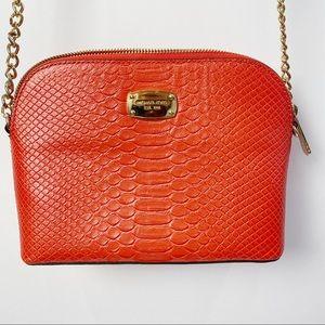 Michael Kors dome crossbody orange purse